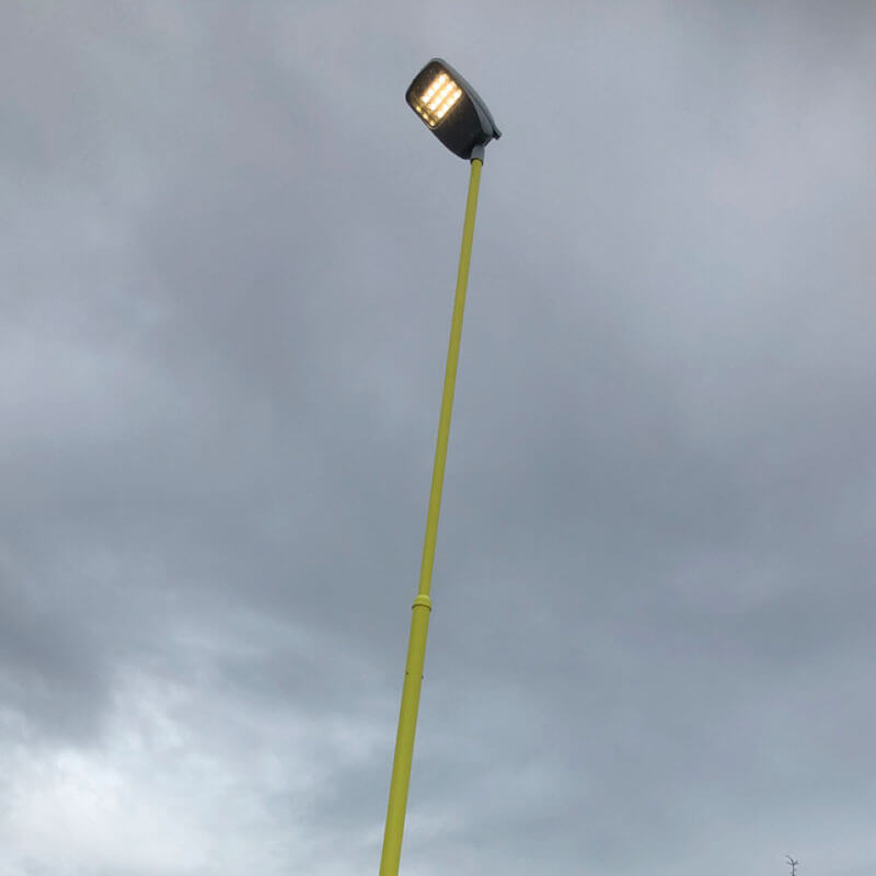 KN entrepenør belysning av uteområade Kyst Elektro